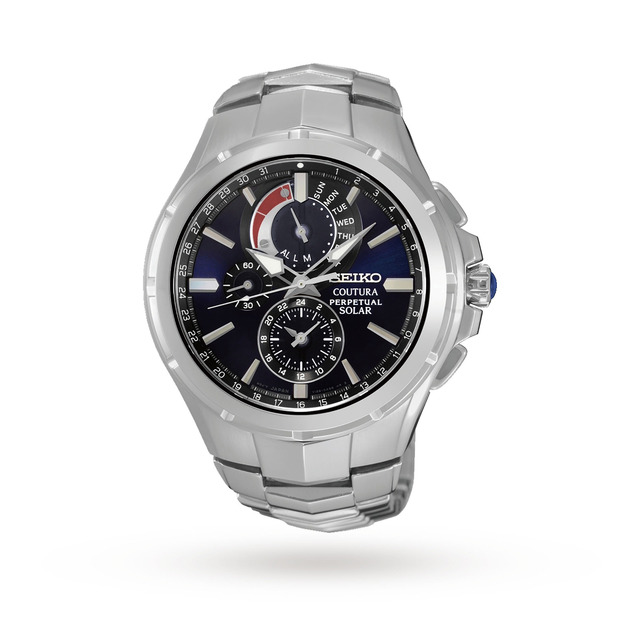 Seiko Men's Coutura Perpetual Chronograph Solar Powered Watch SSC375P9