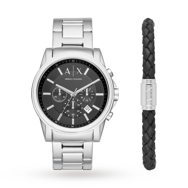Armani Exchange Mens Silver Watch