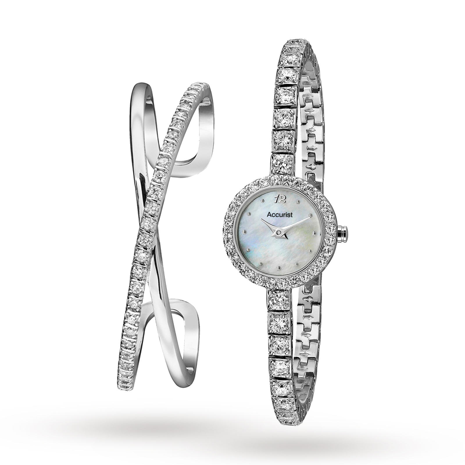 Accurist Ladies' Bangle Gift Set Watch