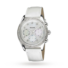 Ladies Accurist Chronograph Watch LS410W