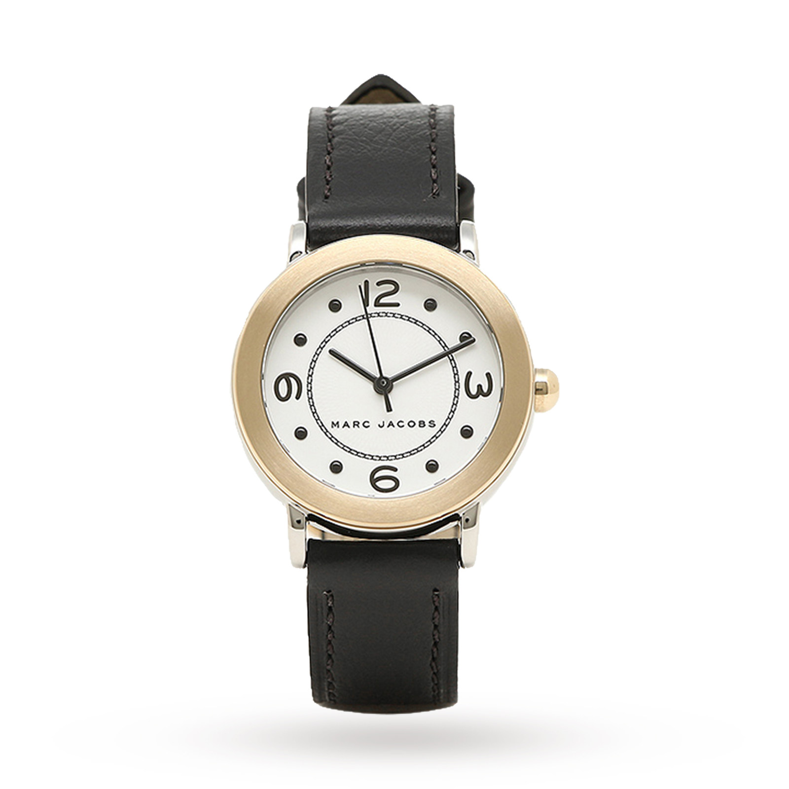 Marc Jacobs Women's Riley Black Leather Strap Watch 28mm MJ1516