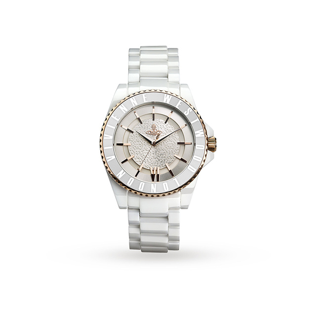 Vivienne Westwood U White Ceramic Glitz Watch