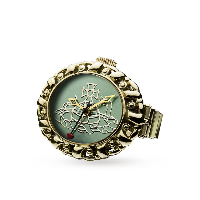 Vivienne Westwood Gold Plated Pimlico Ring Watch