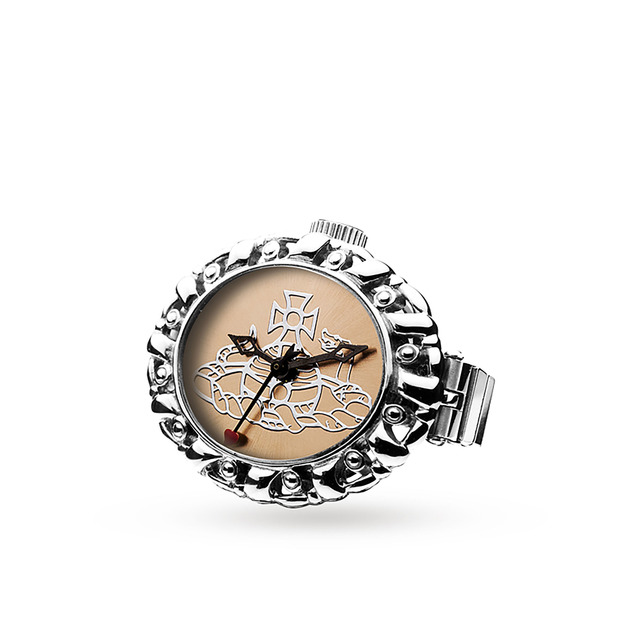 Vivienne Westwood Rose Gold Plated Pimlico Ring Watch