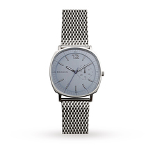 Skagen Mens Rungsted Silver Steel Mesh Bracelet Watch SKW6255