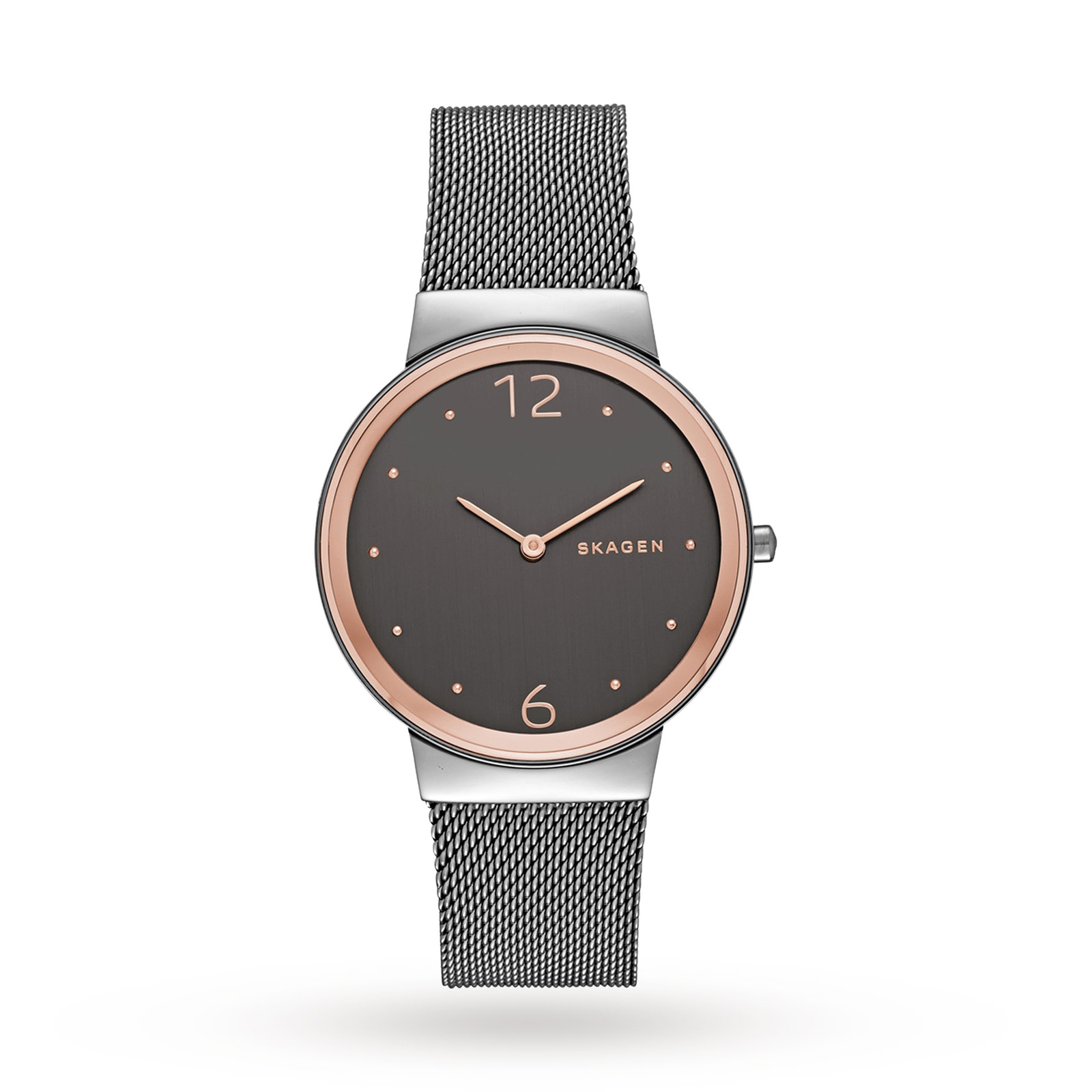 Skagen Ladies Freja Grey Steel Bracelet Watch SKW2382