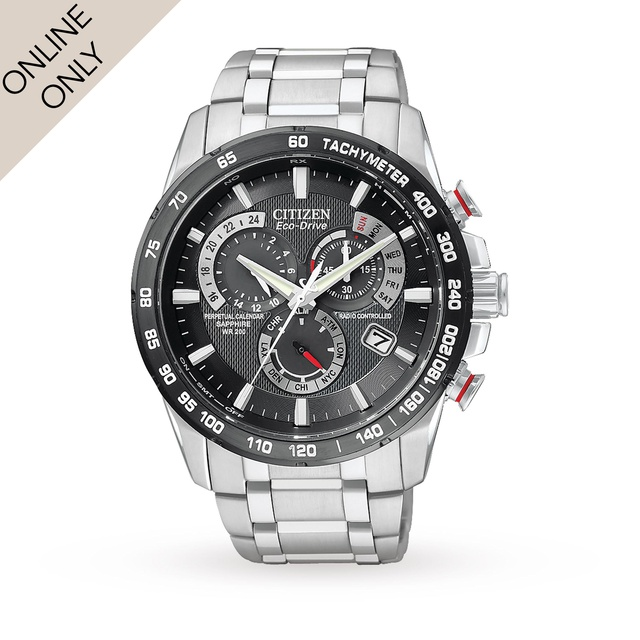 Citizen Mens Red Arrows AT Limited Edition Alarm Chronograph Radio Controlled EcoDrive Watch