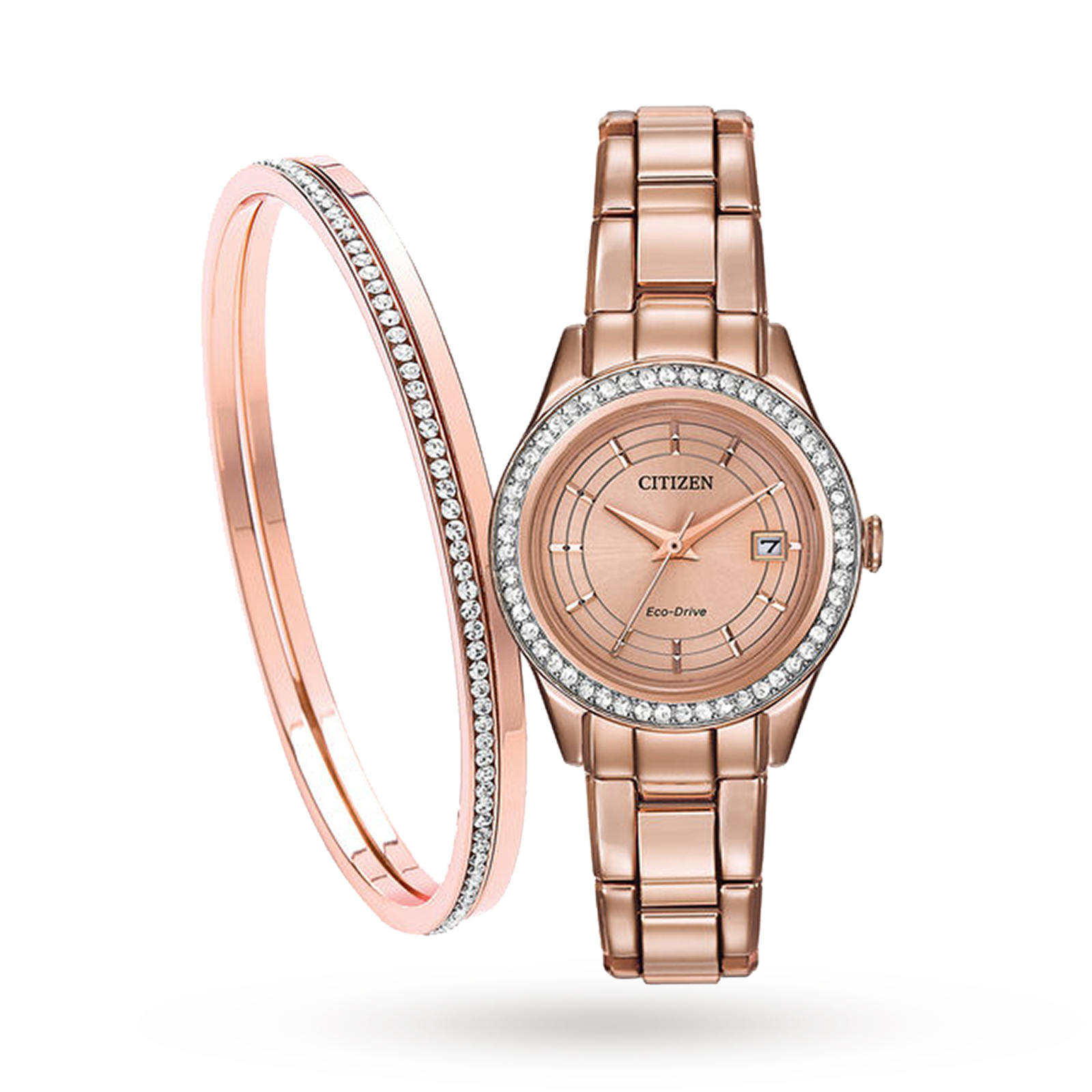 Citizen Ladies' Silhouette Crystal Eco-Drive Watch - Exclusive