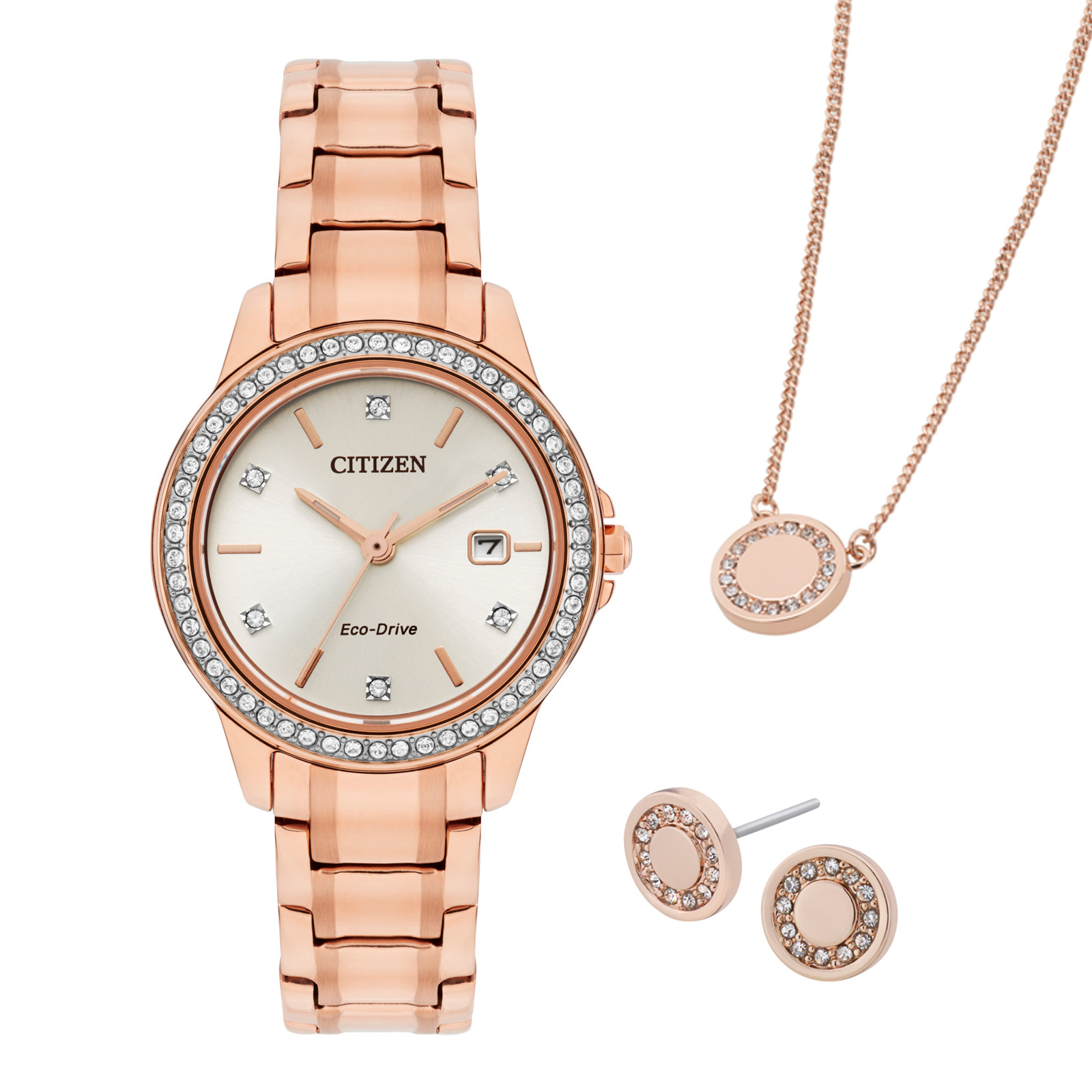 Citizen Rose Gold Ladies Gift Set