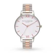 Olivia Burton White Dial Bracelet Silver & Rose Gold Watch