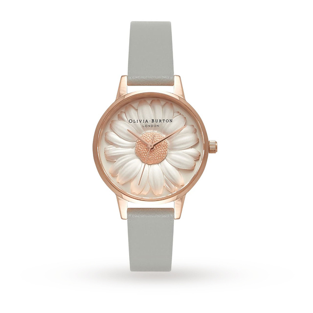 Olivia Burton Flower Show 3D Daisy Grey & Rose Gold