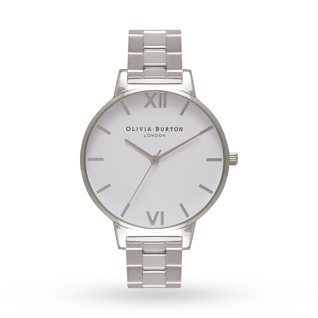 Olivia Burton Ladies' White Dial Bracelet Watch