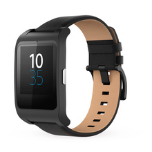 Sony Unisex Smartwatch 3 - Black Leather
