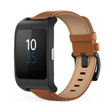 Sony Unisex Smartwatch 3 - Brown Leather