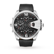 Diesel Mens Uber Black Leather Chief Watch DZ7376