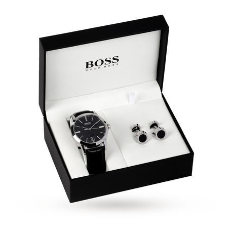 For Him - Hugo Boss Gent's Watch And Cufflinks Set 1570046 - 1570046