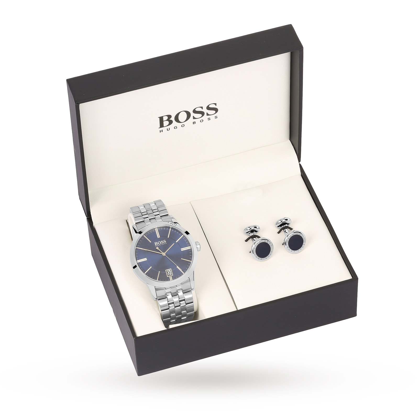 Hugo Boss Men's Gift Set Navy and Cufflinks