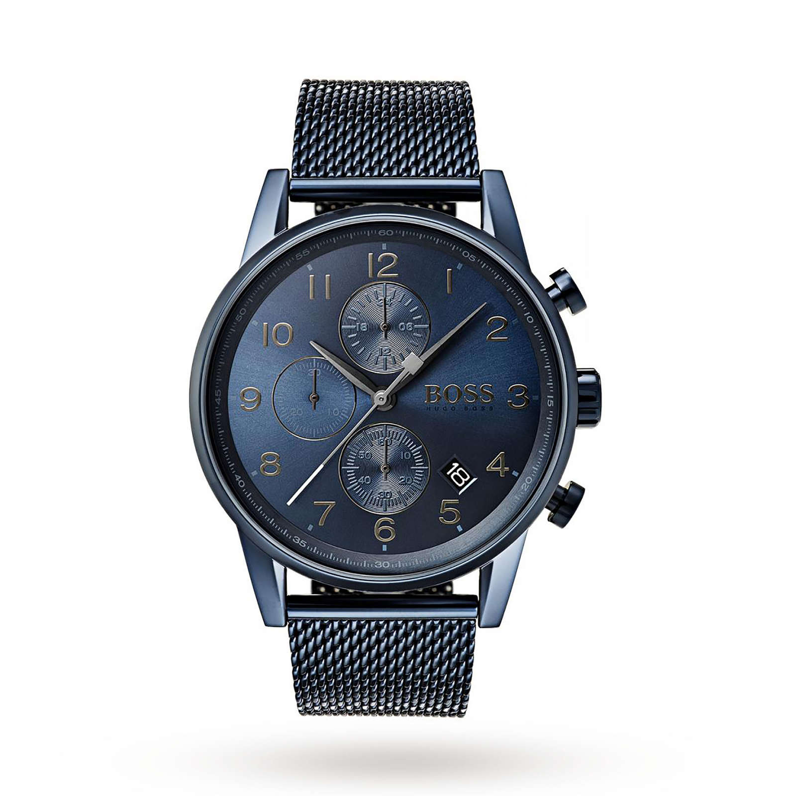 Hugo Boss GQ Edition Navigator Blue Chronograph Mens Watch