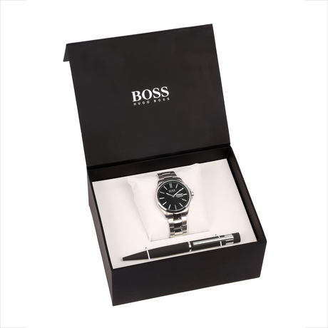 For Him - Hugo Boss Black Mens Watch and Pen Gift Set 1570061 - 1570061