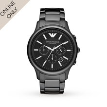 Emporio Armani Mens Ceramica Ceramic Chronograph Watch
