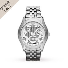 Emporio Armani Mens Meccanico Automatic Chronograph Watch