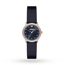 Emporio Armani Ladies Dress Blue Leather Strap Watch AR2066