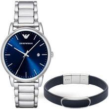 Emporio Armani Mens Dress Silver Watch