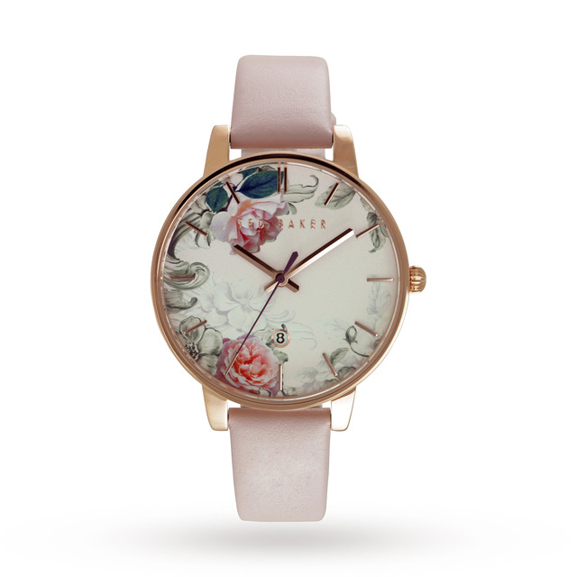 Ted Baker Ladies' Printed Floral Dial Watch