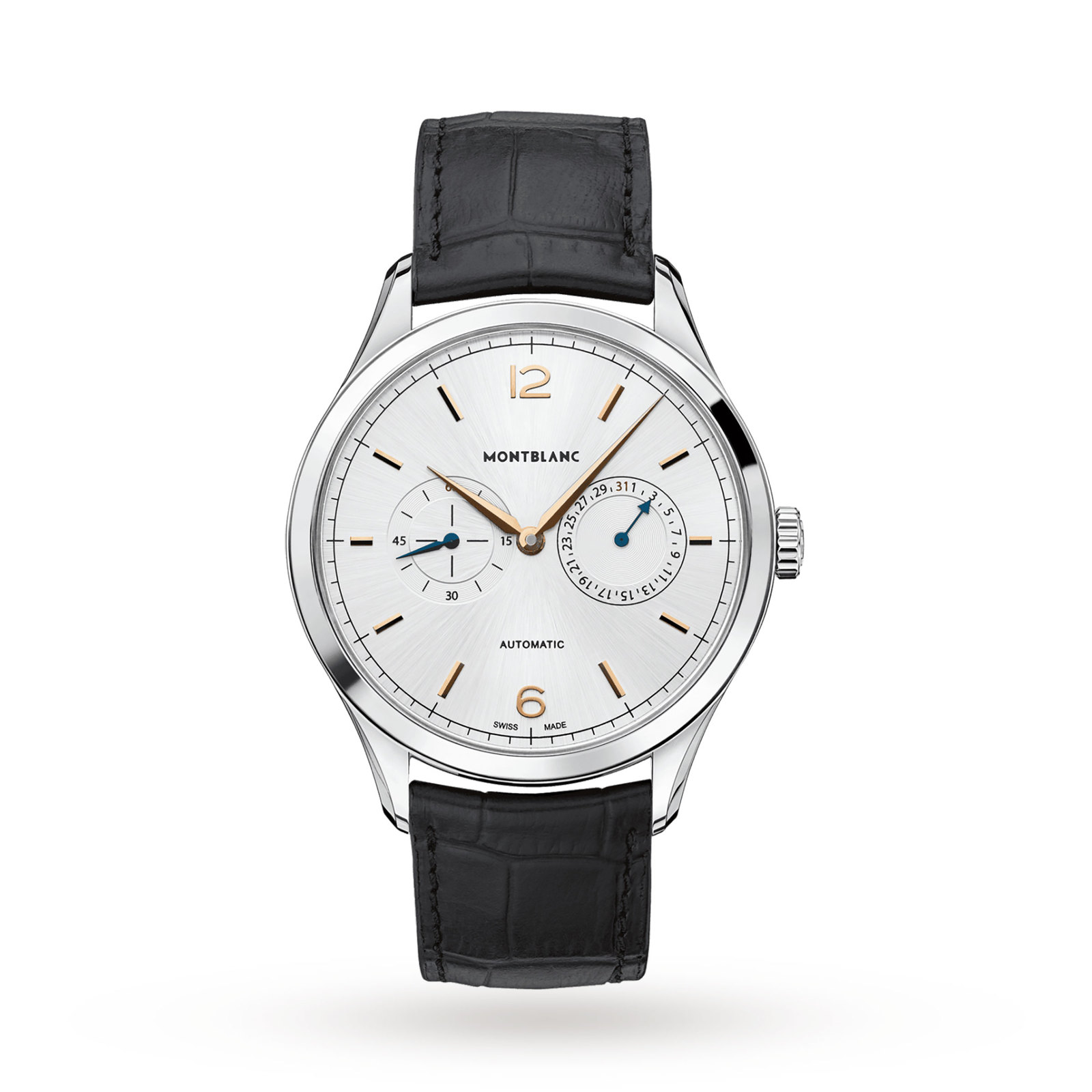 Montblanc Heritage Chronométrie Twincounter Date Mens Watch