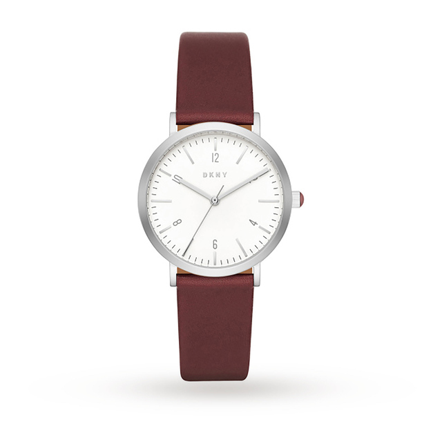 DKNY Ladies Burgundy Leather Strap Watch NY2508