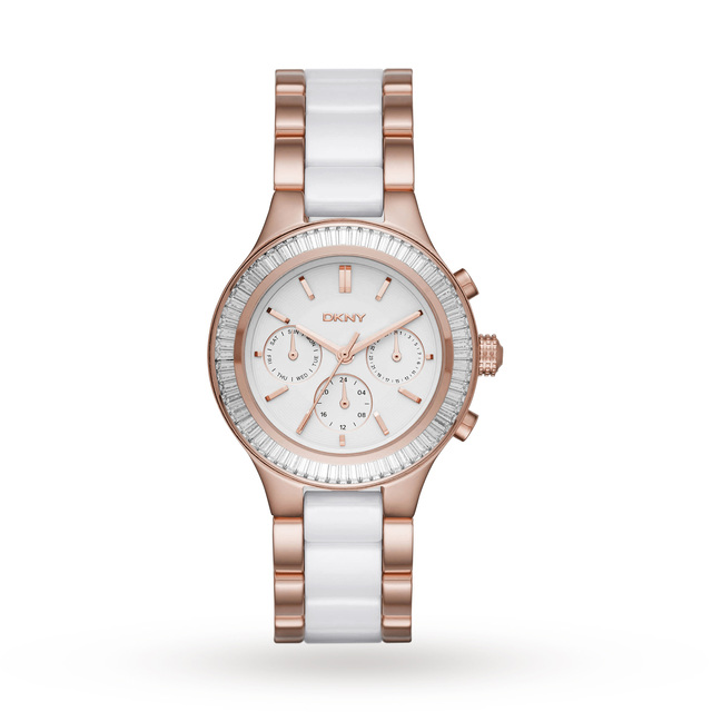 Ladies DKNY Chambers Ceramic Watch NY2498