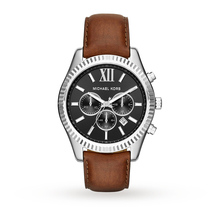 Michael Kors Lexington Black Dial Chronograph Men's Watch