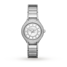 Michael Kors Ladies Mini Kerry Stone Set Silver Tone Watch MK3441