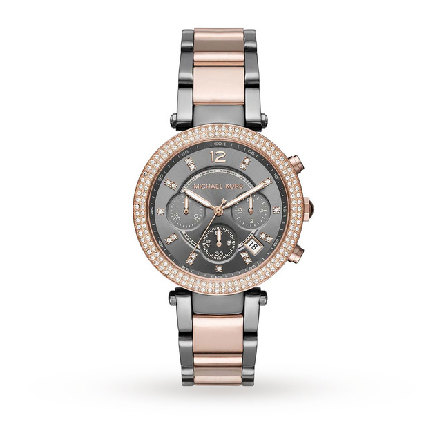 Michael Kors Ladies Parker Two Tone Chronograph Watch