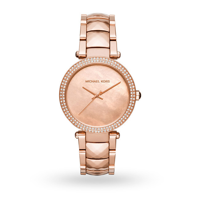 Michael Kors Parker Rose Gold-Tone Three-Hand Watch