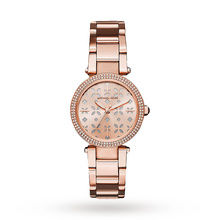 Michael Kors Mini Parker Rose Gold-Tone Three-Hand Watch