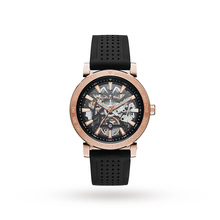 michael kors mens watches goldsmiths michael kors rose gold tone and black silicone automatic watch