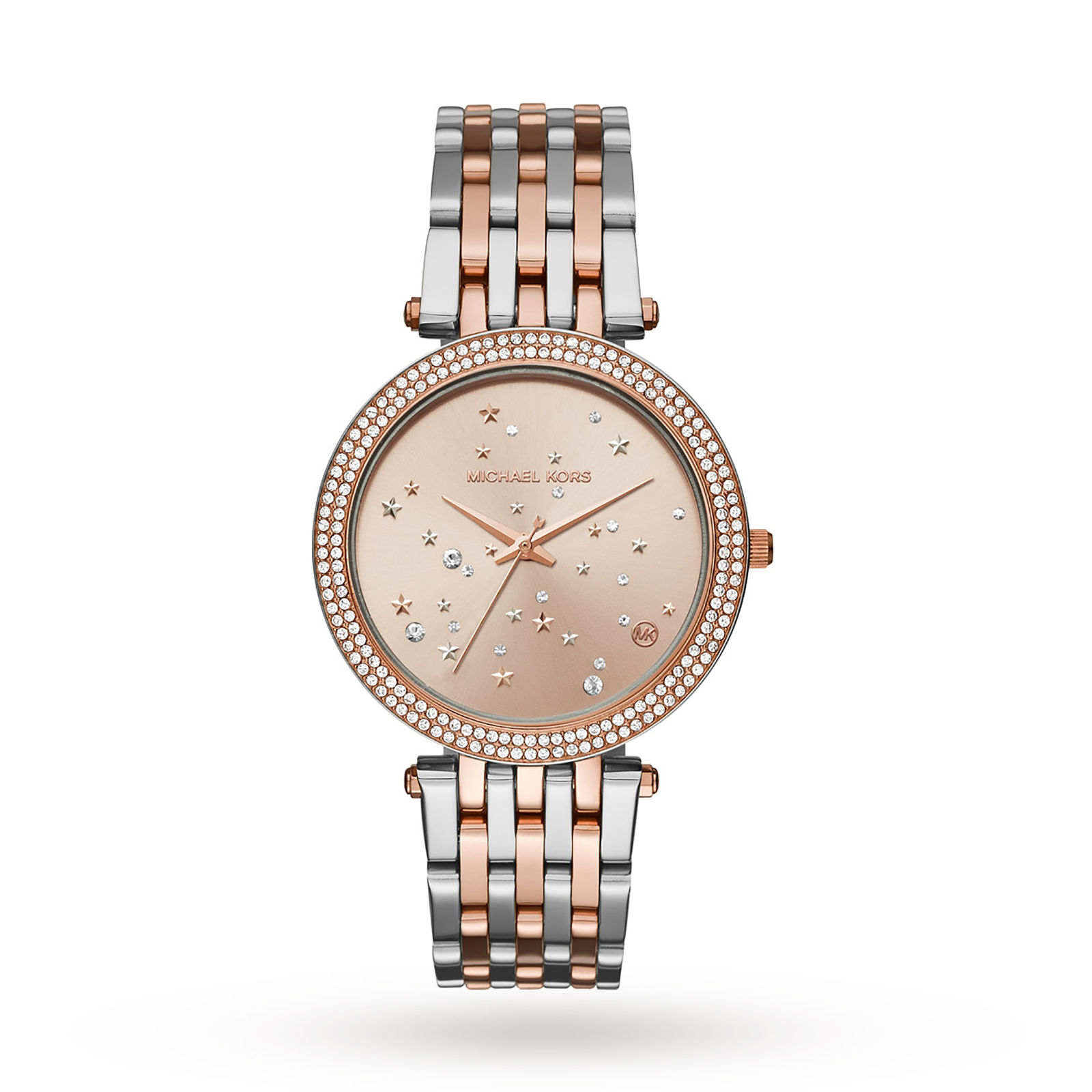 Michael Kors Rose Gold-Tone & Stainless-Steel Three-Hand Watch