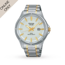 Mens Pulsar Solar Powered Watch
