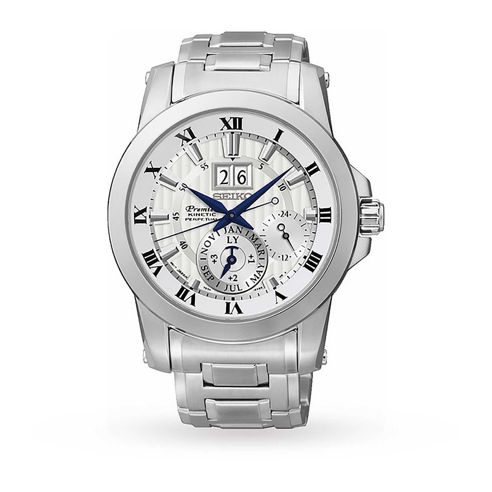 Mens Seiko Premier Kinetic Watch