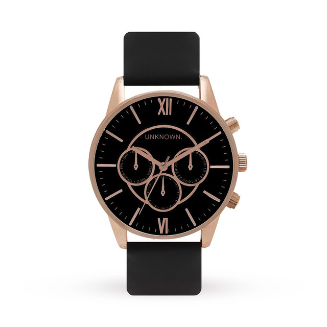 Unknown the engineered black dial and rose gold