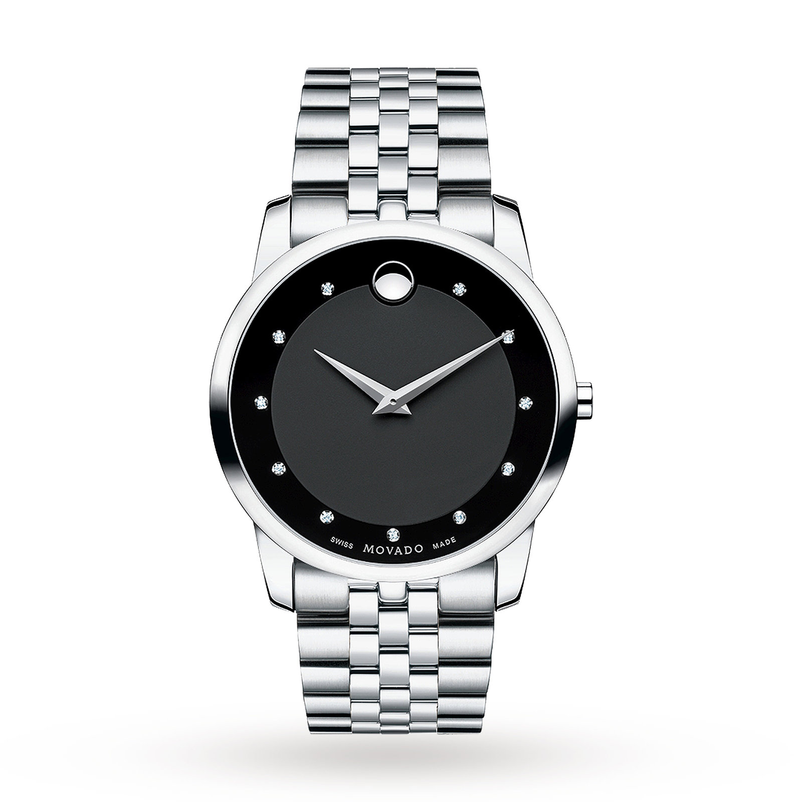 Mens Movado Museum Diamond Watch 0606878