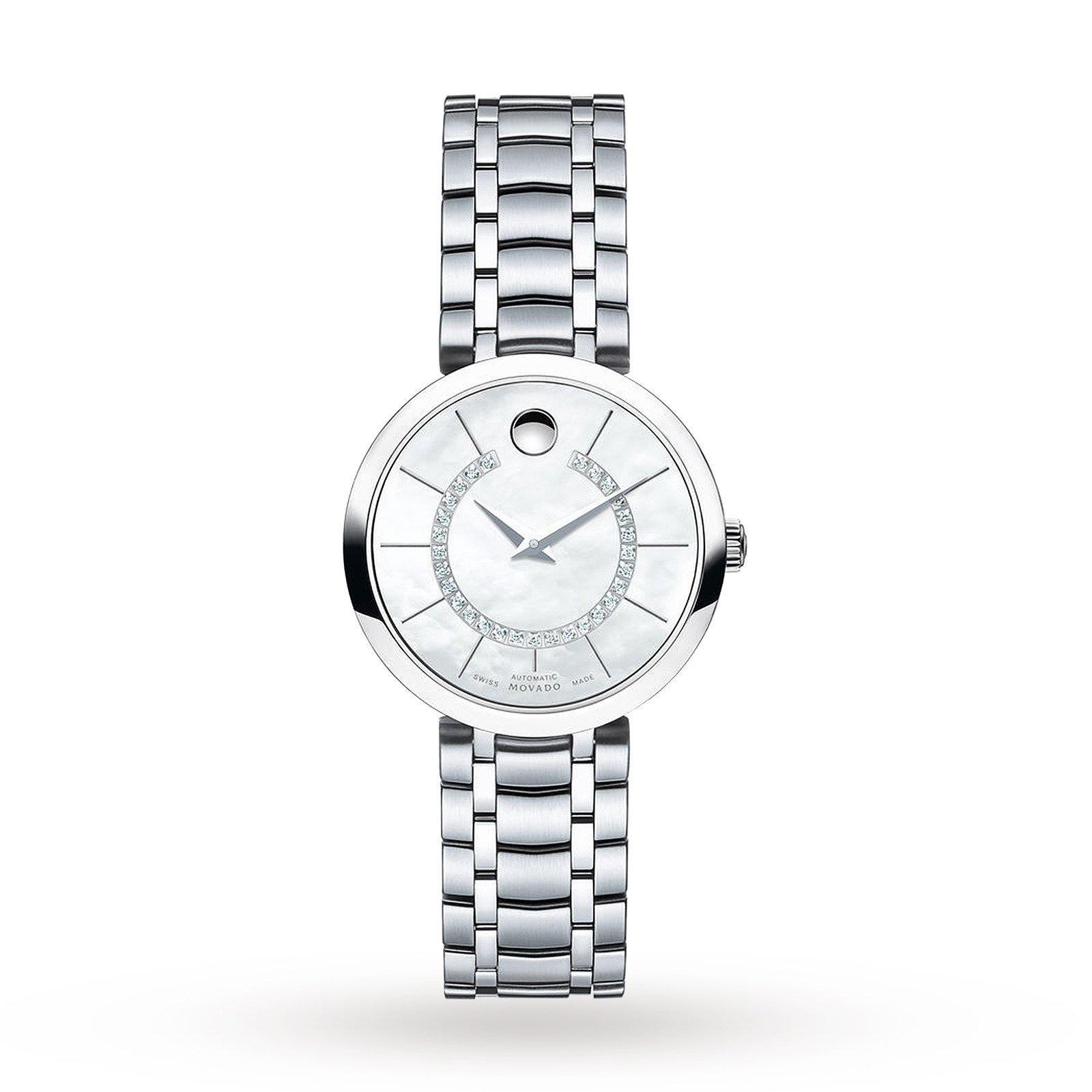 Ladies Movado 1881 Automatic Diamond Watch 0606920
