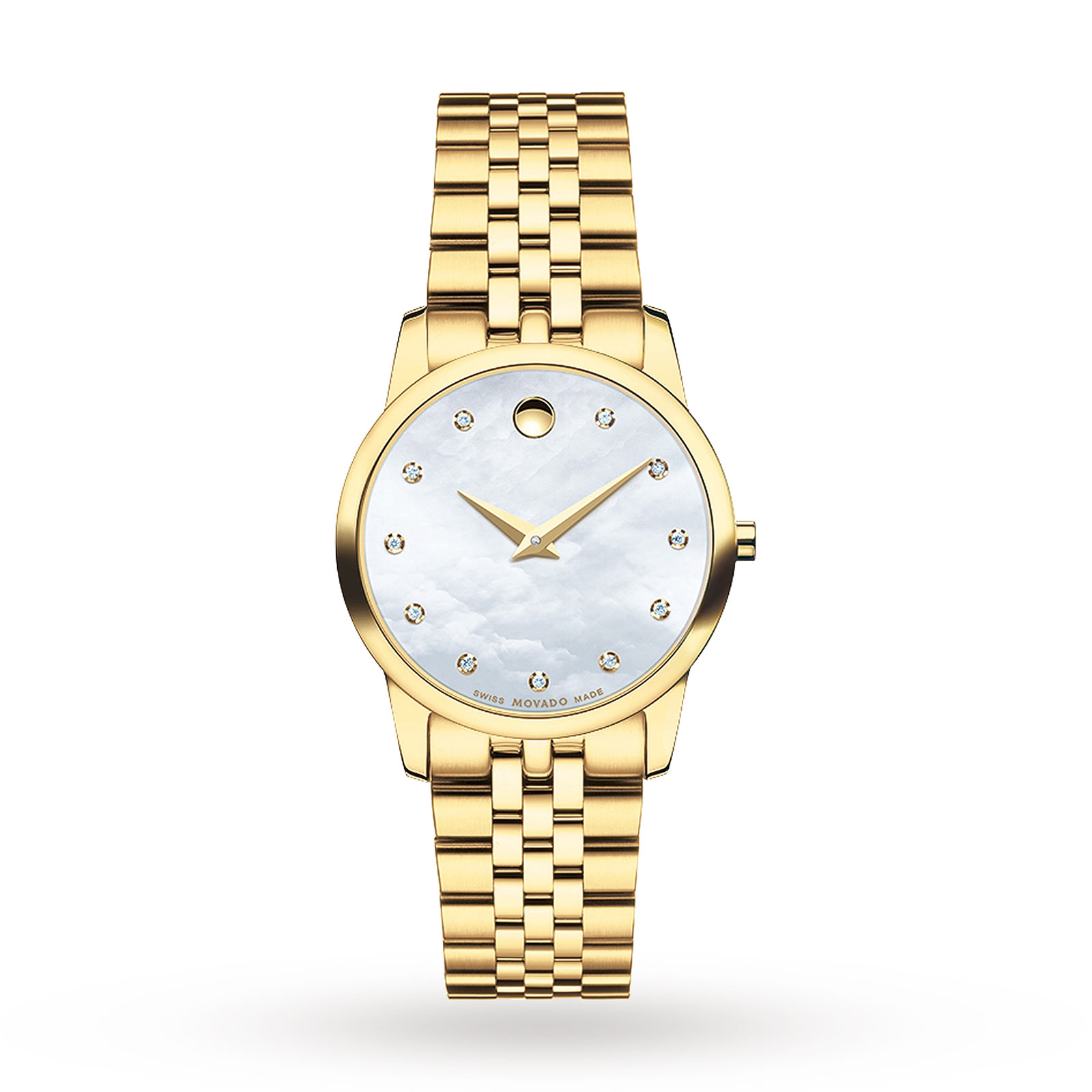 Ladies Movado Museum Diamond Watch 0606998