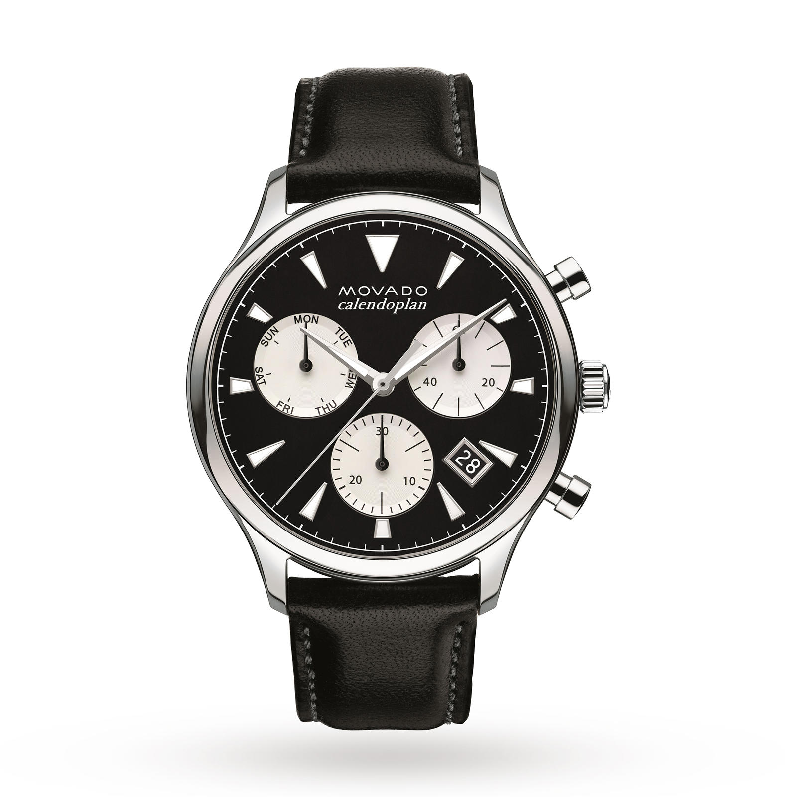 Mens Movado Heritage Chronograph Watch 3650005