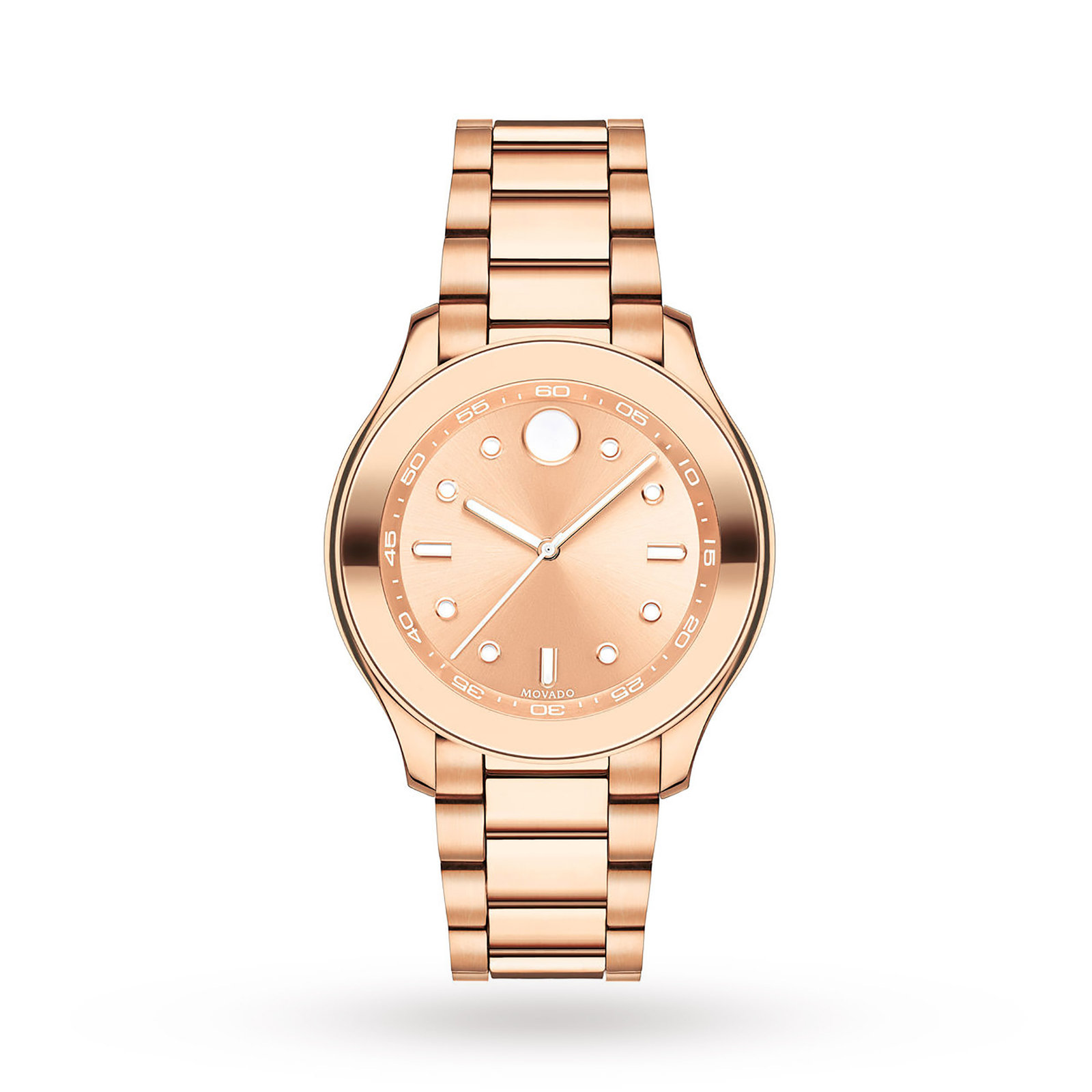 Movado Bold Rose Gold IP Stainless Steel Ladies Watch