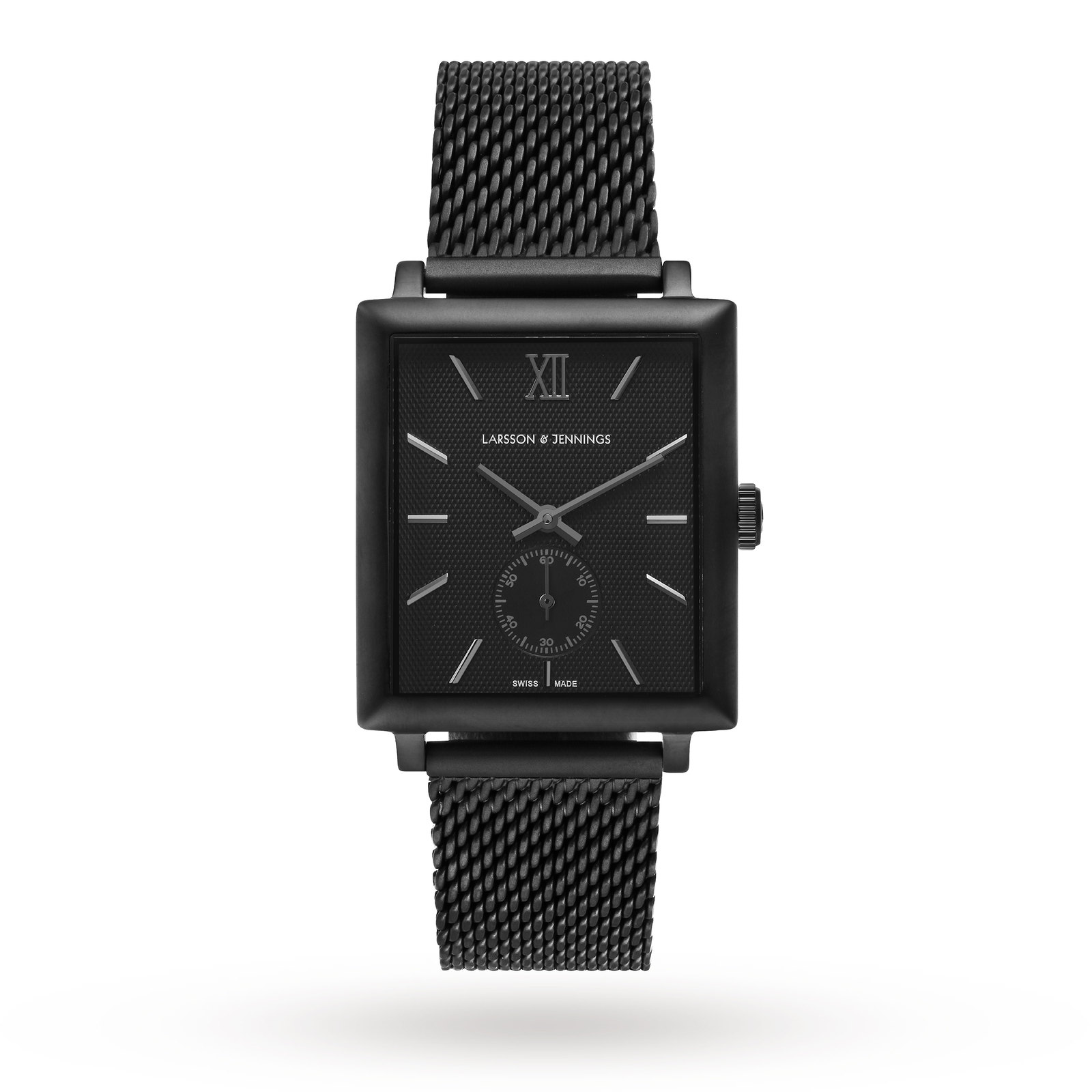 Larsson & Jennings Norse 40mm Mechanical, Unisex Black Mesh Watch