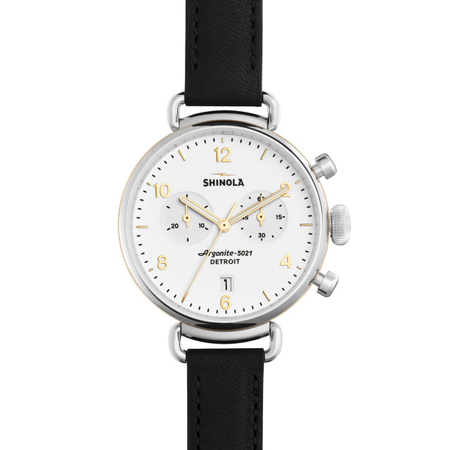 Shinola The Canfield 38mm Chronograph Unisex Watch