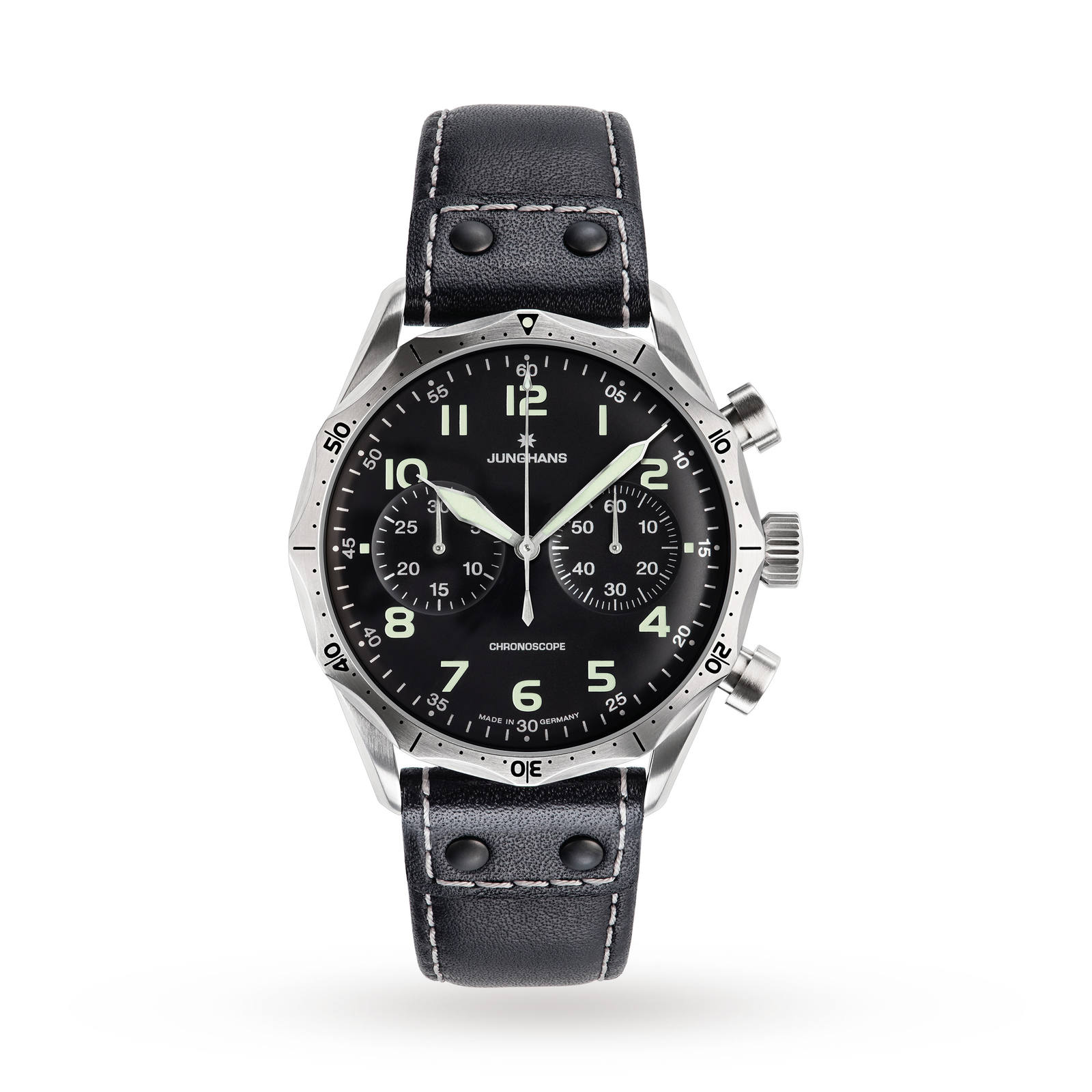Junghans Men's Meister Pilot Chronograph Watch