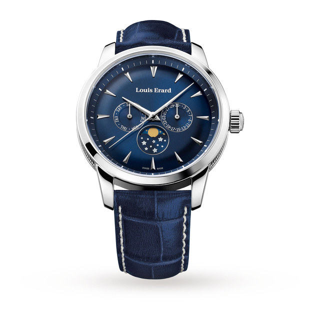 Louis Erard Heritage Quartz Moonphase Mens Watch